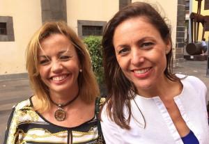 Ana Zurita con Cristina Tavío en La Laguna