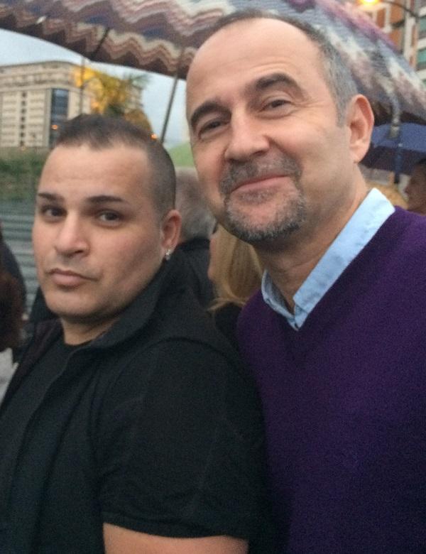 Foto 3.- Bolorino Armani con Nacho Zerolo