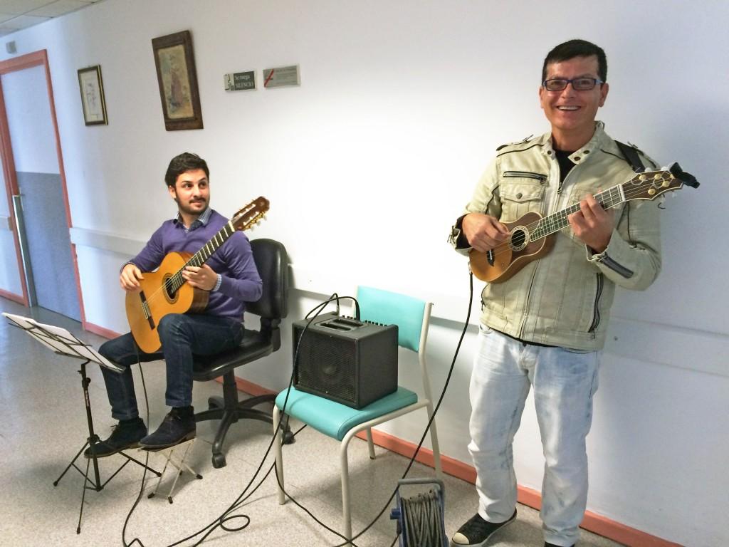 Foto 1.- Benito Cabrera y Tomás Fariña