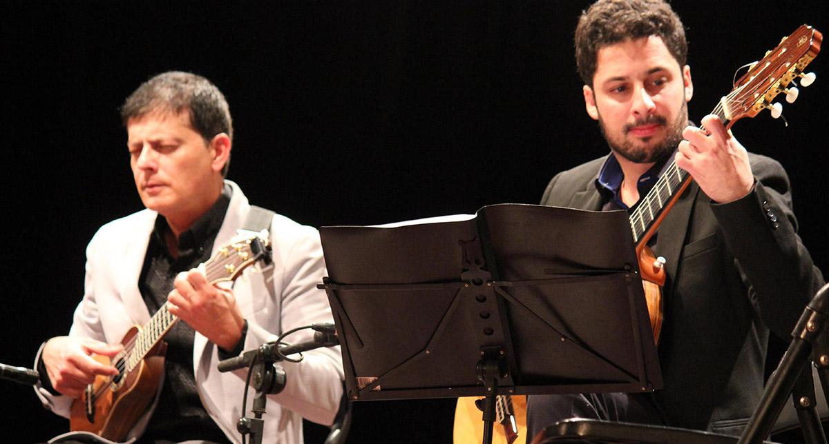 Foto 2.- Benito Cabrera con Tomás Fariña