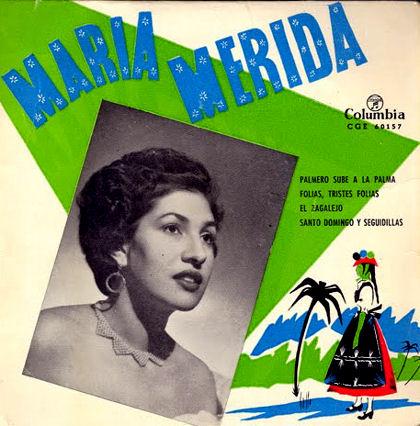 Foto 5.- María Mérida - Carátula disco