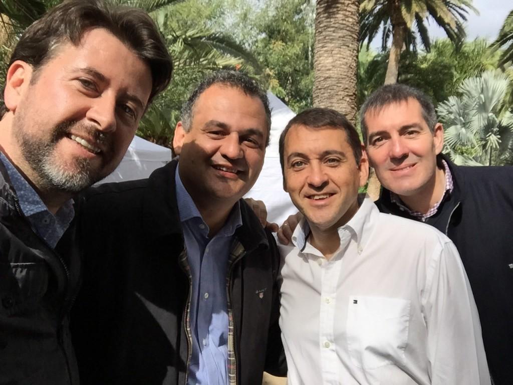 FOTO 1.- Los 4 dirigentes de CC